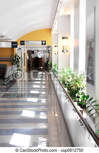 Hospital corridor - csp0812750