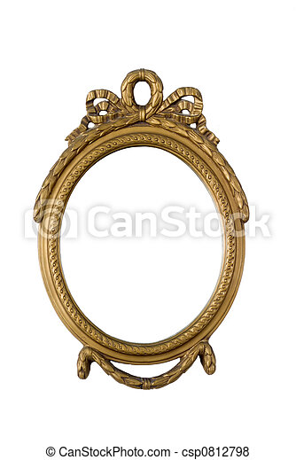 antique golden frame - csp0812798