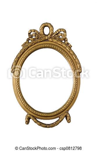 antique golden frame - csp0812798