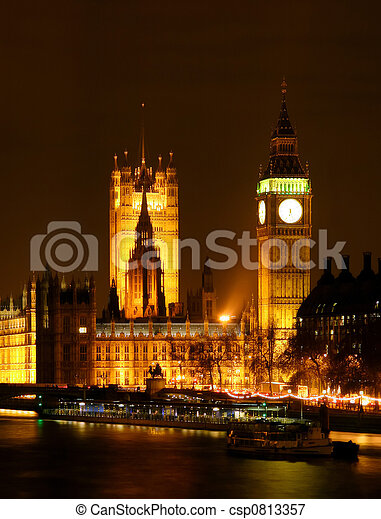 London by Night - csp0813357
