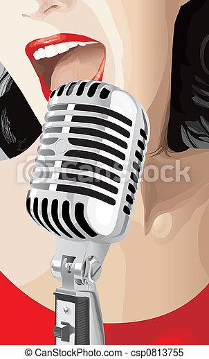 歌手, 流行音樂 - csp0813755