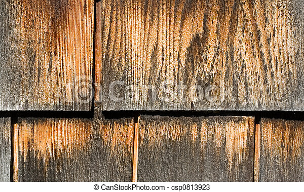 Weathered Wood Shingles - csp0813923