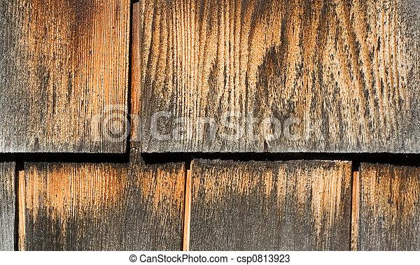 Weathered Wood Shingles - csp0813923