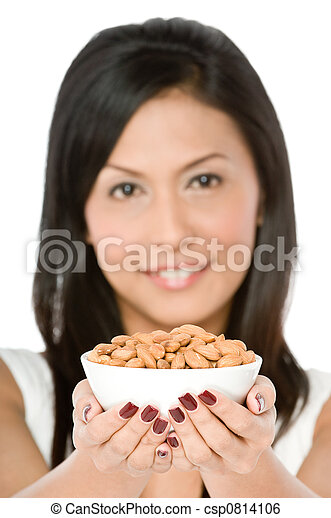 Woman with Almonds - csp0814106