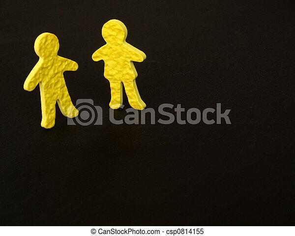 mâle, femme, communication - csp0814155