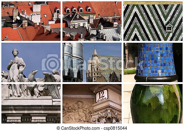 Vienna landmarks collage - csp0815044