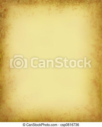 Grungy Antique Parchment - csp0816736