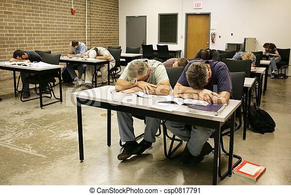 Adult Ed - Asleep in Class - csp0817791
