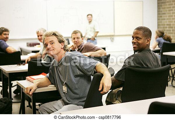 Educação, adulto, classe - csp0817796