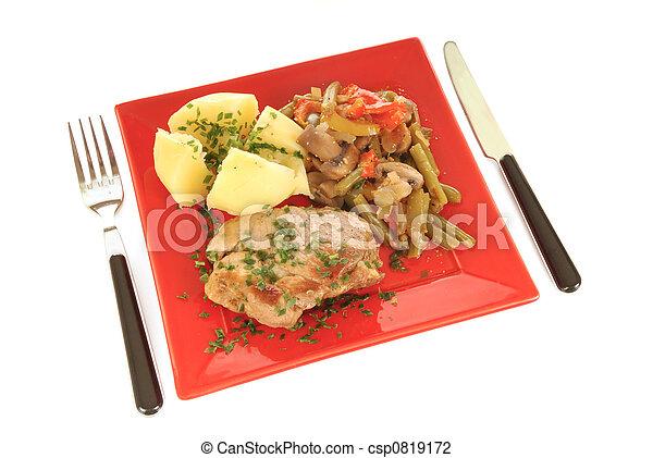 Gourmet meal - csp0819172