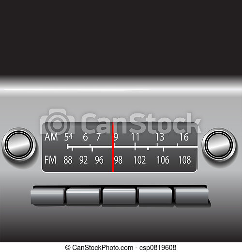 AM FM Car Dashboard Radio - csp0819608
