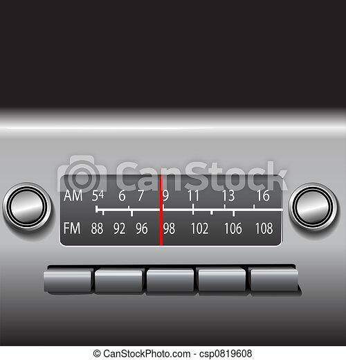AM FM Car Dashboard Radio - csp0819608