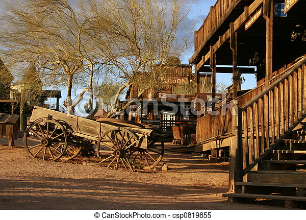 Old wagon at Ghost town