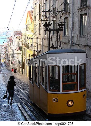 A funicular in Lisboa - csp0821796