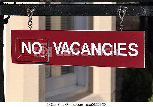 No vacancies - csp0822820