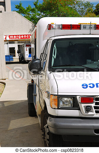 Ambulance at emergency - csp0823318