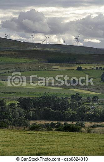 Moody sky over wind farm - csp0824010