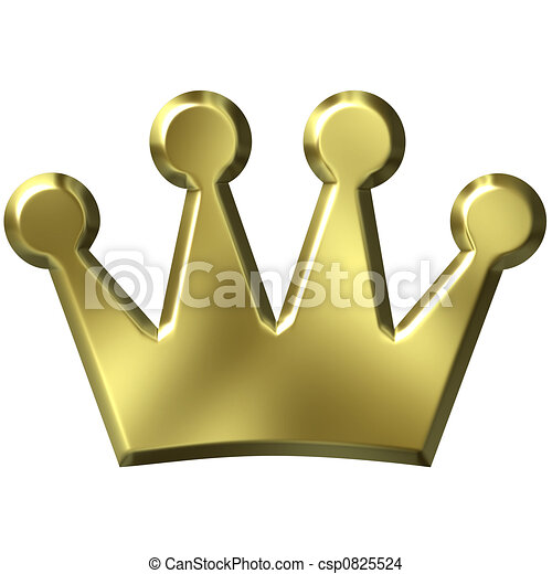 3D Golden Crown - csp0825524