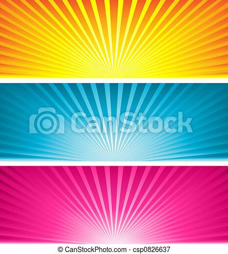 coloured starbursts - csp0826637