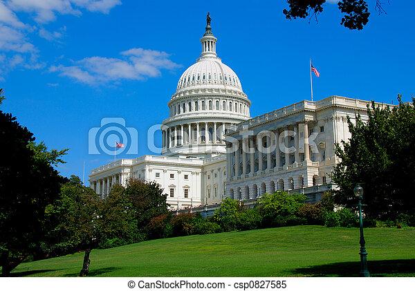 華盛頓, 州議會大廈,  DC - csp0827585