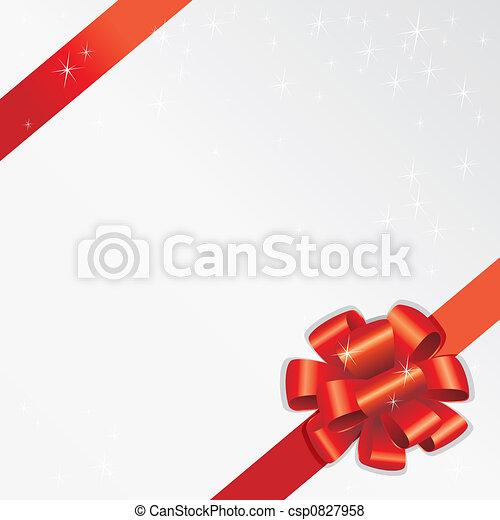 Holiday Ribbon (vector) - csp0827958