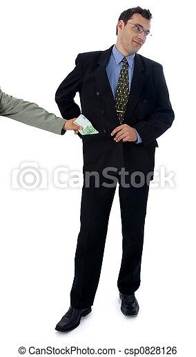 Businessman/politician taking bribe - csp0828126