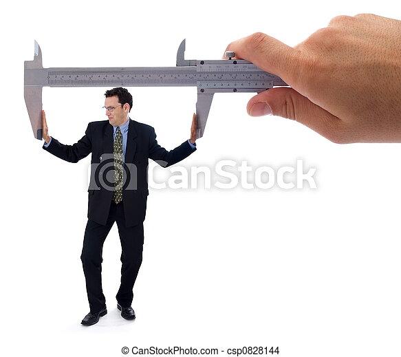 Struggling businessman - csp0828144