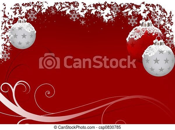 Xmas Red Frost - csp0830785