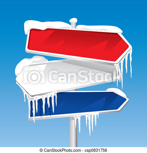 Frozen Signpost (vector) - csp0831756