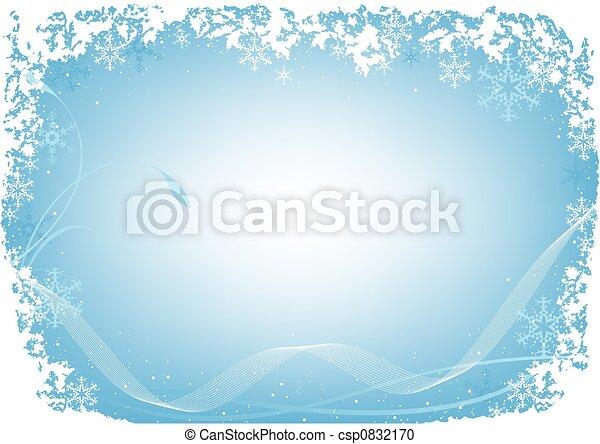 Xmas Blue Frost - csp0832170