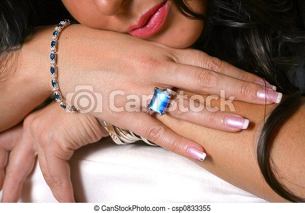 manicured hand - csp0833355