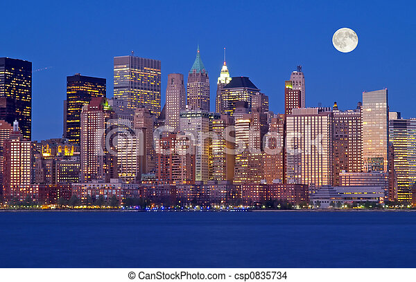 Th New York City Skyline - csp0835734