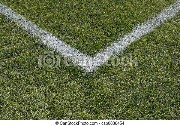 Corner boundary lines of a sports field - csp0836454
