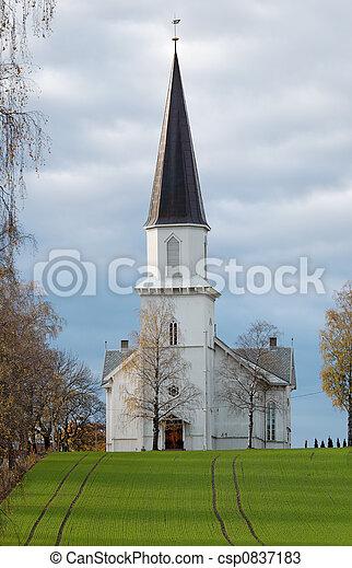 Church in a Field  - csp0837183