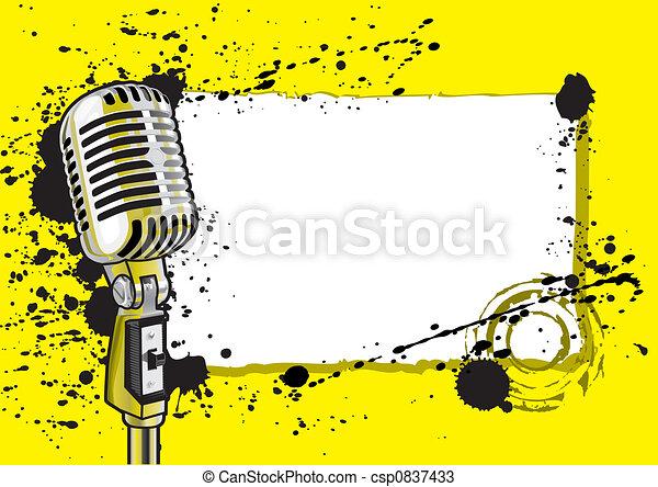 Music Event Design (illustration) - csp0837433