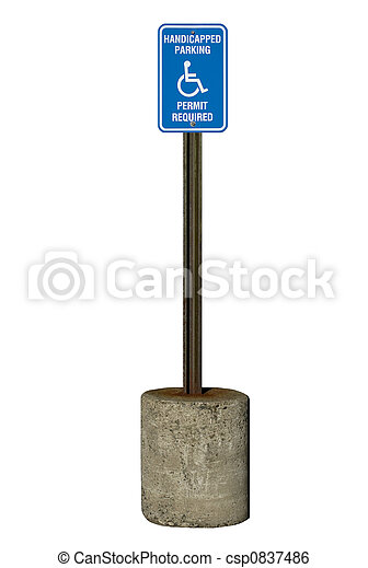 Stock Image of Handicapped Parking Sign - A true metal handicapped ...