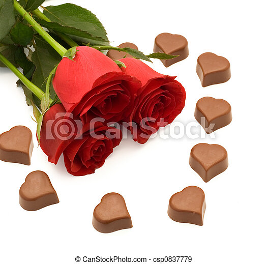 Roses and chocolate - csp0837779