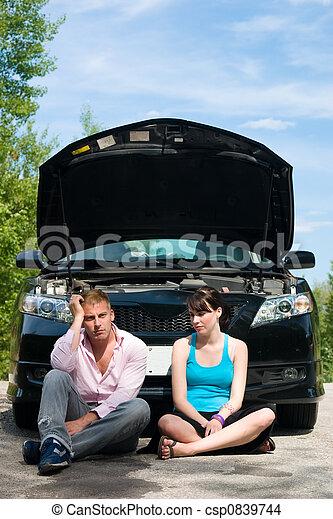 Road Trip - Car Broke Down - csp0839744