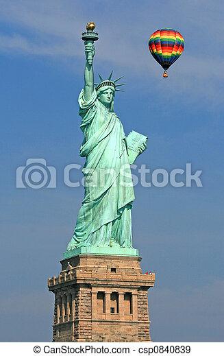 statue, Freiheit - csp0840839