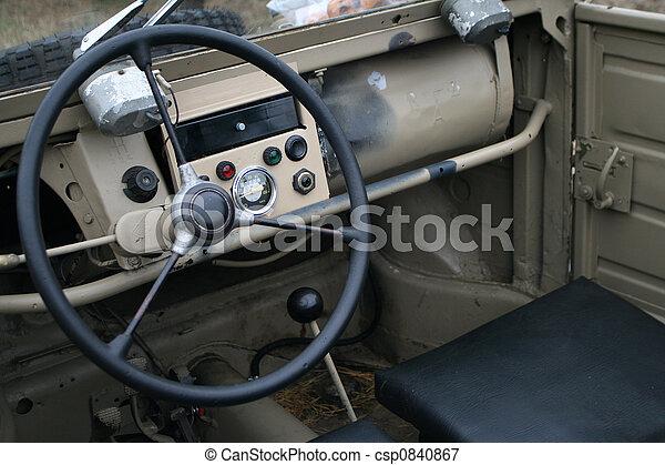 Bilder von cockpit, Auto - altes, Weinlese, Aus, -, Straße, Auto ... | {Auto cockpit straße 46}