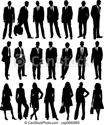 business people collection - csp0840993