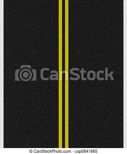 Black Asphalt Road  - csp0841665
