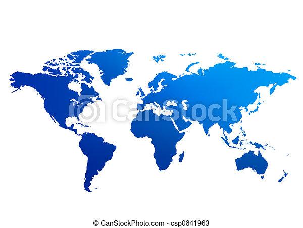 World Map - csp0841963
