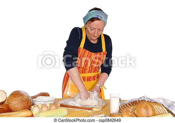 Housewife molding dough - csp0842649