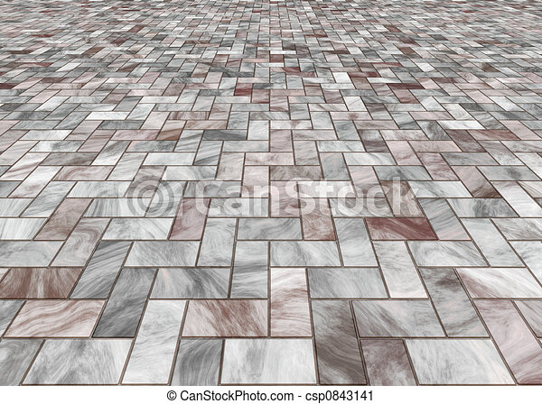 paved stone or marble til - csp0843141
