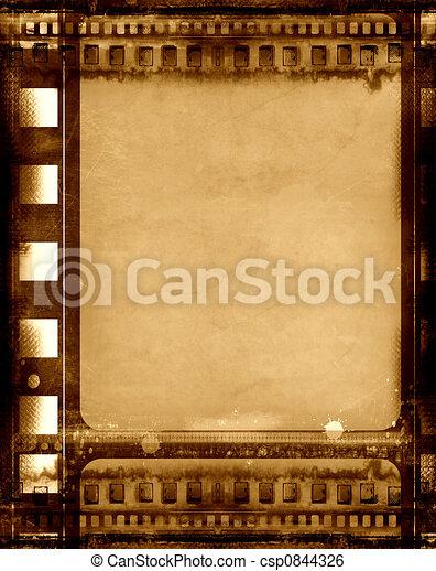 Grunge film frame - csp0844326