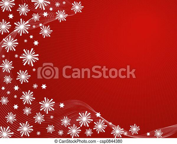 Snowflakes and stars - csp0844380