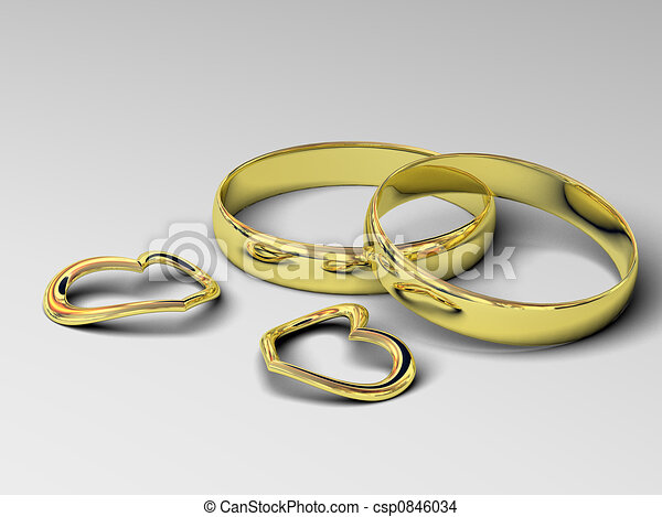 wedding rings - csp0846034