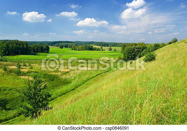 lantlig, landskap - csp0846091