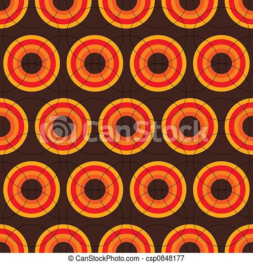 Stock illustraties van jaren 60 retro bruine seamless jaren 60 herhalen csp0848177 - Behang van de jaren ...
